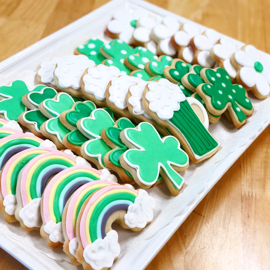St. Patrick's Day Iced Cookies