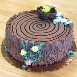 Bird's Nest Stump Cake
