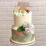 Travel Themed Grooms Cake