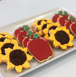 Sunflower & Apple Early Fall Iced Cookies