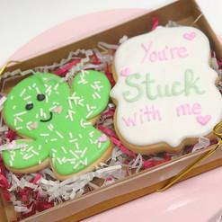 Valentine Cactus Cookies
