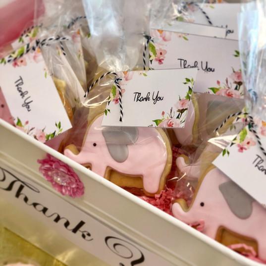Baby Girl Elephant Cookies
