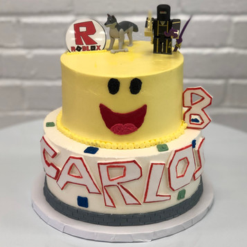 Two Tier Roblox Birthday Cake