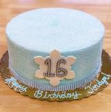 Snowflake Sparkle Sweet 16 Cake