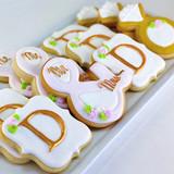Custom Monogram Wedding Cookies