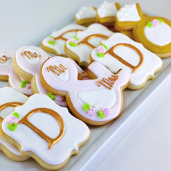 Custom Monogram Wedding Cookies