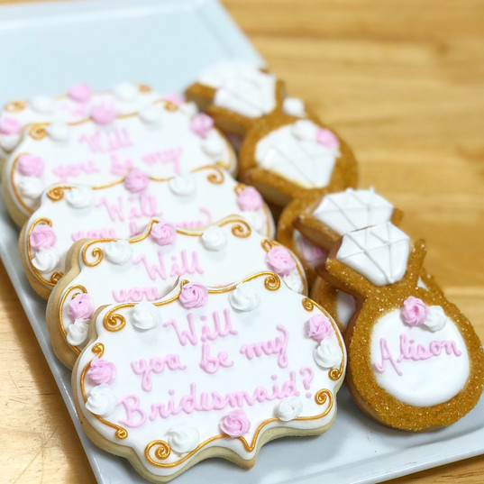 Will you be my bridesmaid? Cookies