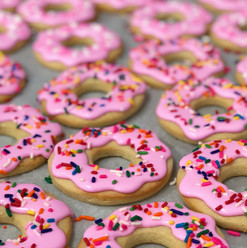Donut Iced Cookies
