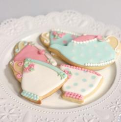 Tea Party Baby Shower Cookies