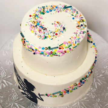 Two Tier Pixie Dust Cake