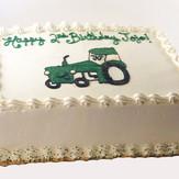 Tractor Birthday Sheet Cake
