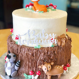 Two Tier Woodland Baby Shower Cake