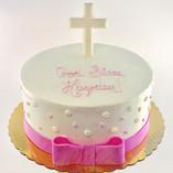 Pink Bow Baptism, Christening, Communion