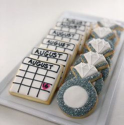 Save the Date Iced Cookies
