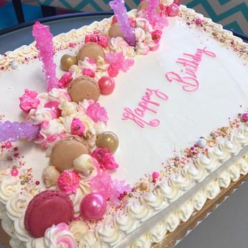 Pretty in Pink Loaded Birthday Sheet Cake