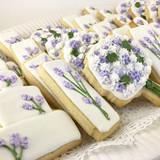 Lavender Themed Wedding Cookies