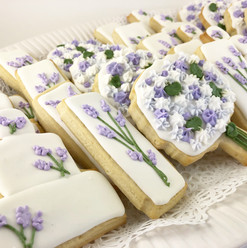 Lavender Themed Wedding Cookies