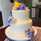 Textured Buttercream with Spring Flowers