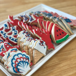 Memorial Day Patriotic Iced Cookies