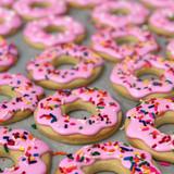 Pink Donut Cookies