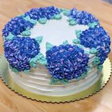 Hydrangea Wreath Cake