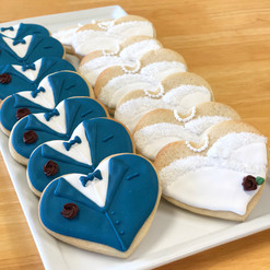 His & Hers Wedding Cookies