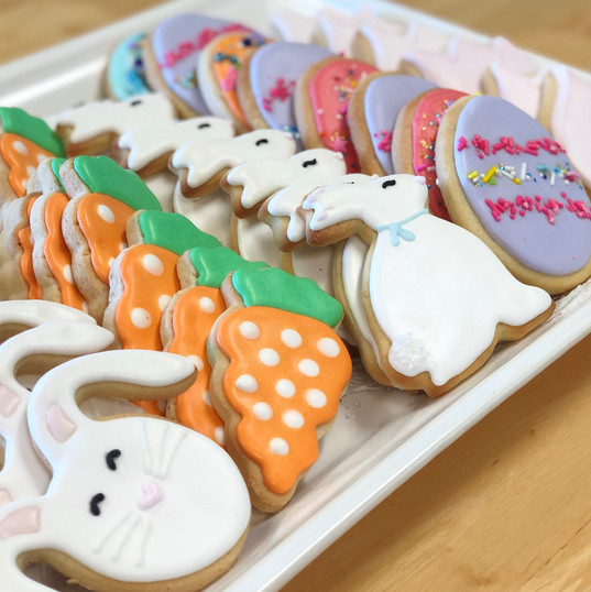 Easter Iced Cookies