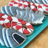Shark Week Iced Cookies