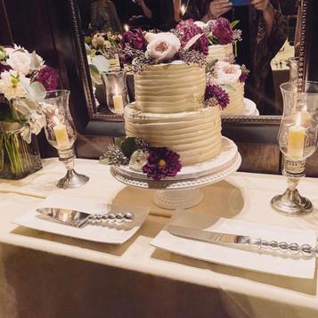 Textured Wedding Cake Display