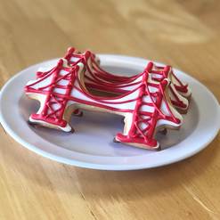 Golden Gate Bridge Cookie