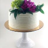 Textured Buttercream & Fresh Flower Cake