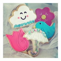 April Shower's Iced Cookies