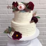 Textured Buttercream & Fresh Flowers