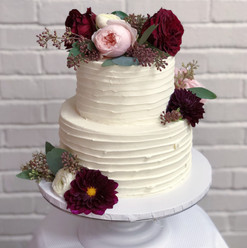 Textured Buttercream & Fresh Flowers