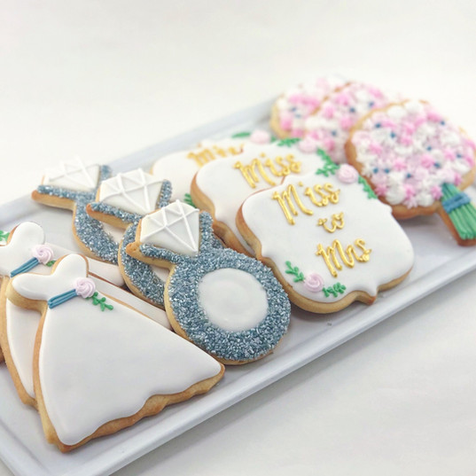 Miss to Mrs. Bridal Cookies