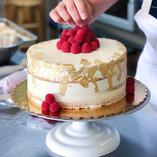 Semi Naked Cake with Gold Flake & Fresh