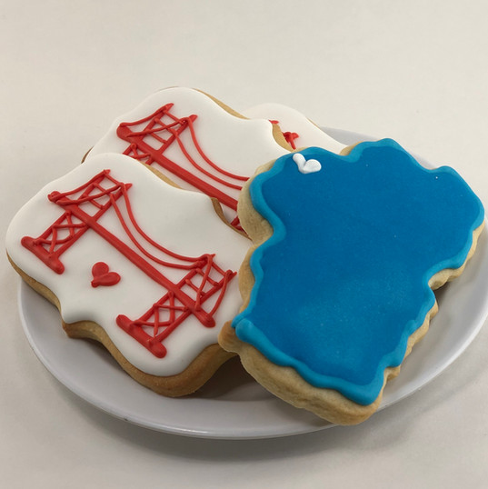 Lake Tahoe & Golden Gate Cookies