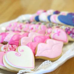 Valentine's Day Iced Cookies