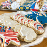 Fourth of July Patriotic Iced Cookies