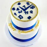 Two Tier Retirement Clock Cake