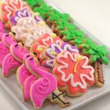 Summer Tropical Flamingo Cookies