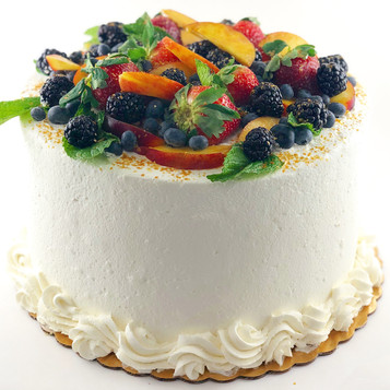 Cake with Whipped Cream & Loaded Fresh F