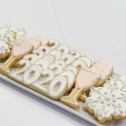 New Year's Iced Cookies