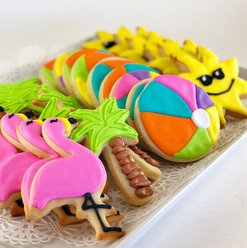 Tropical Beach Iced Cookies