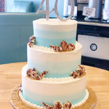 Three Tier Ombre Beach Cake