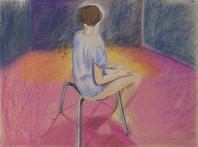50x70 Soft pastel on paper