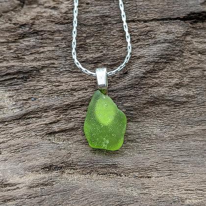 River Glass Pendant Necklace - Buffy