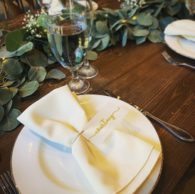 After florals, place settings are my nex