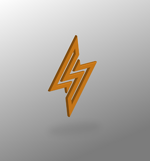 S-Z-Lightning 3D Symbol Billy Boman Design