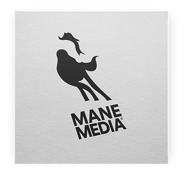 Mane Media Negative Space Logo Exploration Billy Boman Design
